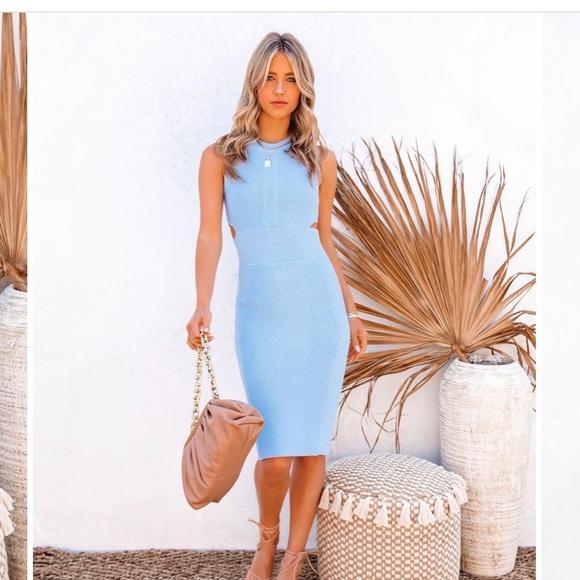 Blue midi Vici dress